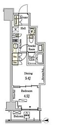 東京メトロ半蔵門線 半蔵門駅 徒歩6分の賃貸マンション 5階1DKの間取り