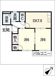 エントピア20D棟[1階]の間取り