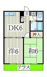 エステートピアIINUMA 1[1階]の間取り
