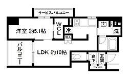 プレサンスロジェ京都烏丸五条[3階]の間取り