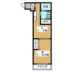 ラッフィナート西陣[3階]の間取り