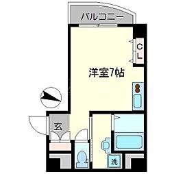 グランパシフィック芦原橋駅前[6階]の間取り