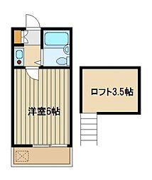 東京都練馬区南大泉1の賃貸アパートの間取り