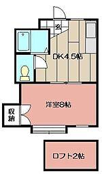 パンシオン・ソワニエB棟[105号室]の間取り