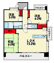 アプローズ東那珂弐番館[10階]の間取り