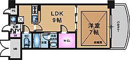 ノルデンタワー天神橋ANNEX[15階]の間取り