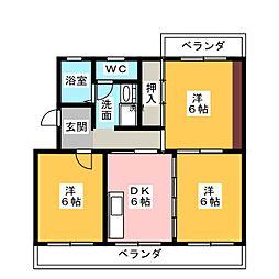 ドヌール浅羽[1階]の間取り