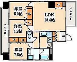 住真田山EAST[5階]の間取り