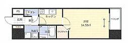 JR東北本線 福島駅 徒歩11分の賃貸マンション 7階1Kの間取り