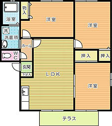 セーズプルミエ A棟[1階]の間取り