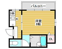 アーバンコスモ[4階]の間取り