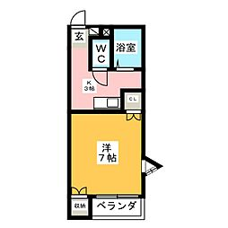 ジャストハイツB[2階]の間取り