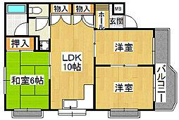 ハイローズマンション2番館[2階]の間取り