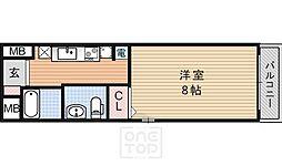 J&N三条神宮道[2階]の間取り