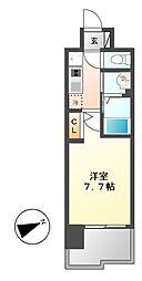 リバーコート砂田橋[7階]の間取り