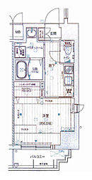 Osaka Metro千日前線 阿波座駅 徒歩8分の賃貸マンション 6階1Kの間取り