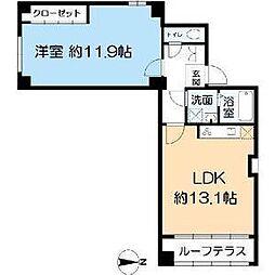 中華街ビルディング[3階]の間取り