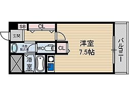 大阪府茨木市庄2丁目の賃貸マンションの間取り
