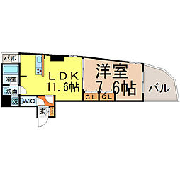さくらHills富士見(さくらヒルズ富士見)[305号室]の間取り