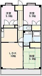 サンリットマンション[106号室]の間取り