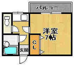三井ハイツ1番館[206号室]の間取り