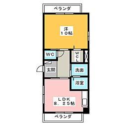 シャトーみずほ[3階]の間取り