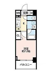 スプランディッド大阪WEST[602号室]の間取り