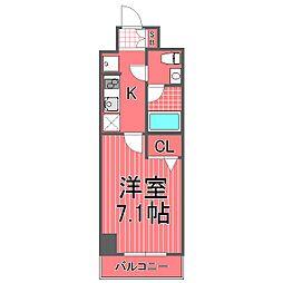 ミリオンステーションプラザ鶴見市場[6階]の間取り