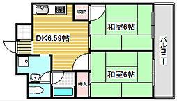 大阪府大阪市西成区千本南1丁目の賃貸マンションの間取り