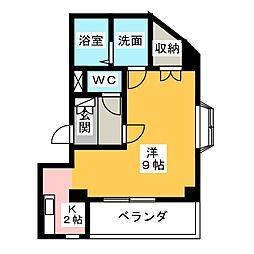 コーナーハウス[2階]の間取り