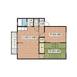 サンビレッジ長澤A棟[1階]の間取り
