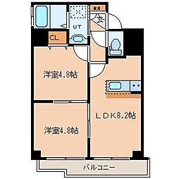 北海道札幌市北区北二十一条西6丁目の賃貸マンションの間取り