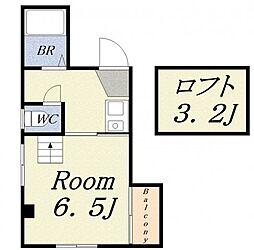 ボンジュールビル[4階]の間取り