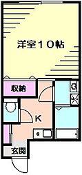 エステート反町II[2階]の間取り
