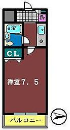TWIN HOTARUNO 1・2[2208号室]の間取り
