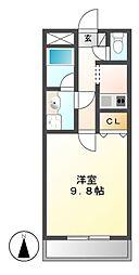 エルムアベニュー藤[3階]の間取り