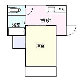 高知県高知市東雲町の賃貸マンションの間取り