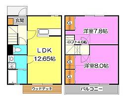 [テラスハウス] 東京都清瀬市下宿2丁目 の賃貸【/】の間取り