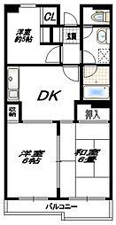 レジデンシャル五洋[4階]の間取り
