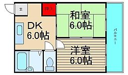 河野ビル[5B号室]の間取り