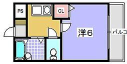アバンサール[305号室]の間取り