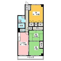 シャルマンコーポ高崎[9階]の間取り
