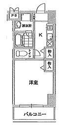 エクレシア瑞江[2階]の間取り