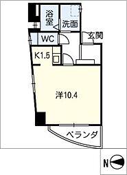 ナビシティ徳川I 801号室[8階]の間取り