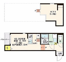 仮)大阪市東淀川区下新庄二丁目・SKHコーポ[1階]の間取り