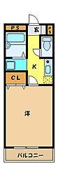 埼玉県さいたま市中央区大戸6丁目の賃貸アパートの間取り
