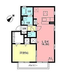 ロイヤルステージA[1階]の間取り