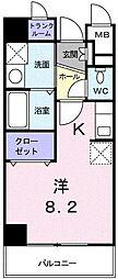 東京都府中市若松町1丁目の賃貸マンションの間取り