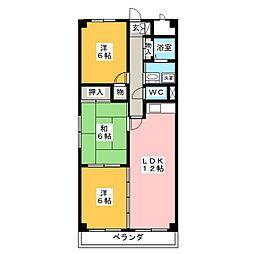 ファミール敷田[1階]の間取り