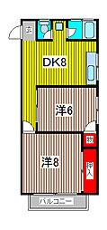 桜マンション[4階]の間取り